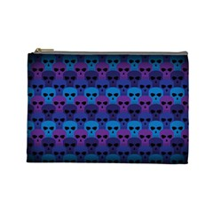 Skull Pattern Wallpaper Cosmetic Bag (large)