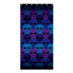 Skull Pattern Wallpaper Shower Curtain 36  X 72  (stall)  by BangZart