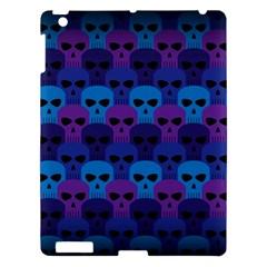 Skull Pattern Wallpaper Apple Ipad 3/4 Hardshell Case by BangZart