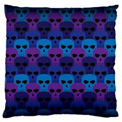 Skull Pattern Wallpaper Large Cushion Case (two Sides) by BangZart