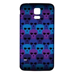 Skull Pattern Wallpaper Samsung Galaxy S5 Back Case (white)