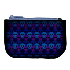 Skull Pattern Wallpaper Large Coin Purse by BangZart