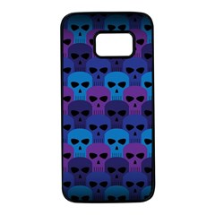 Skull Pattern Wallpaper Samsung Galaxy S7 Black Seamless Case