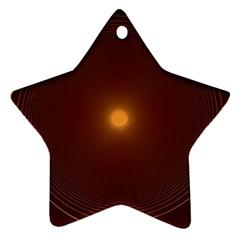Spiral Vintage Star Ornament (two Sides)