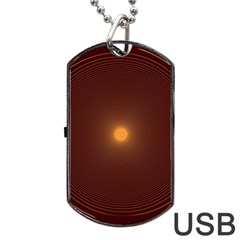 Spiral Vintage Dog Tag Usb Flash (one Side) by BangZart
