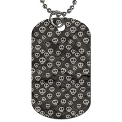Skull Halloween Background Texture Dog Tag (two Sides) by BangZart