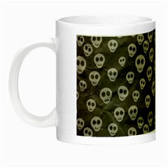 Skull Halloween Background Texture Night Luminous Mugs