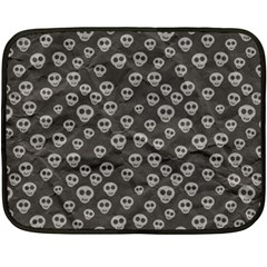 Skull Halloween Background Texture Fleece Blanket (mini) by BangZart
