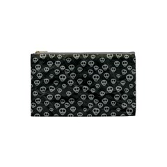Skull Halloween Background Texture Cosmetic Bag (small)  by BangZart