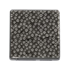 Skull Halloween Background Texture Memory Card Reader (square)