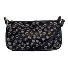 Skull Halloween Background Texture Shoulder Clutch Bags by BangZart