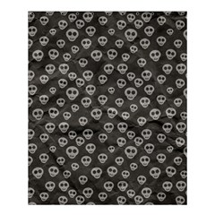 Skull Halloween Background Texture Shower Curtain 60  X 72  (medium)