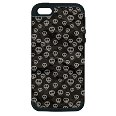Skull Halloween Background Texture Apple Iphone 5 Hardshell Case (pc+silicone) by BangZart
