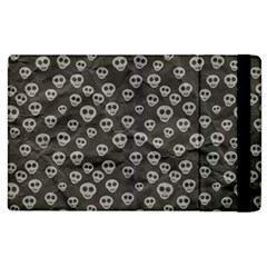 Skull Halloween Background Texture Apple Ipad 2 Flip Case by BangZart