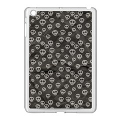 Skull Halloween Background Texture Apple Ipad Mini Case (white)