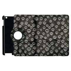 Skull Halloween Background Texture Apple Ipad 3/4 Flip 360 Case by BangZart