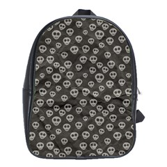 Skull Halloween Background Texture School Bags (xl)  by BangZart