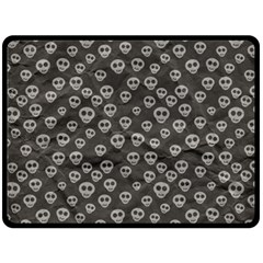 Skull Halloween Background Texture Double Sided Fleece Blanket (large)  by BangZart