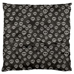 Skull Halloween Background Texture Large Flano Cushion Case (two Sides) by BangZart
