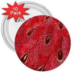 Red Peacock Floral Embroidered Long Qipao Traditional Chinese Cheongsam Mandarin 3  Buttons (10 Pack)