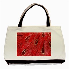 Red Peacock Floral Embroidered Long Qipao Traditional Chinese Cheongsam Mandarin Basic Tote Bag