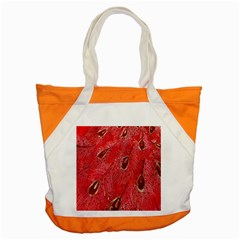 Red Peacock Floral Embroidered Long Qipao Traditional Chinese Cheongsam Mandarin Accent Tote Bag