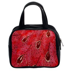 Red Peacock Floral Embroidered Long Qipao Traditional Chinese Cheongsam Mandarin Classic Handbags (2 Sides) by BangZart