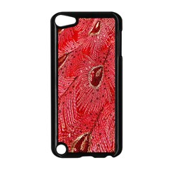 Red Peacock Floral Embroidered Long Qipao Traditional Chinese Cheongsam Mandarin Apple Ipod Touch 5 Case (black) by BangZart