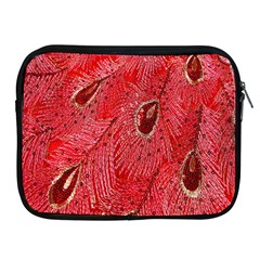 Red Peacock Floral Embroidered Long Qipao Traditional Chinese Cheongsam Mandarin Apple Ipad 2/3/4 Zipper Cases