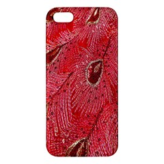 Red Peacock Floral Embroidered Long Qipao Traditional Chinese Cheongsam Mandarin Iphone 5s/ Se Premium Hardshell Case by BangZart