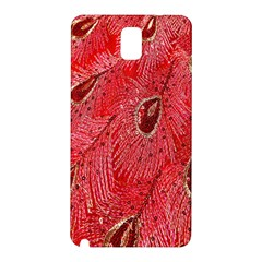 Red Peacock Floral Embroidered Long Qipao Traditional Chinese Cheongsam Mandarin Samsung Galaxy Note 3 N9005 Hardshell Back Case by BangZart