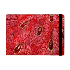Red Peacock Floral Embroidered Long Qipao Traditional Chinese Cheongsam Mandarin Ipad Mini 2 Flip Cases