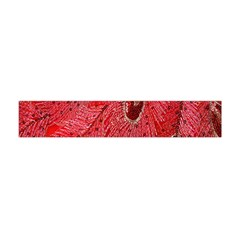 Red Peacock Floral Embroidered Long Qipao Traditional Chinese Cheongsam Mandarin Flano Scarf (mini)