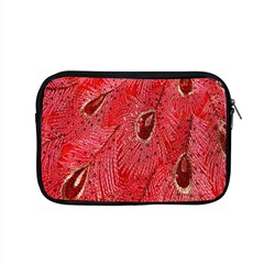 Red Peacock Floral Embroidered Long Qipao Traditional Chinese Cheongsam Mandarin Apple Macbook Pro 15  Zipper Case