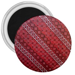 Red Batik Background Vector 3  Magnets by BangZart