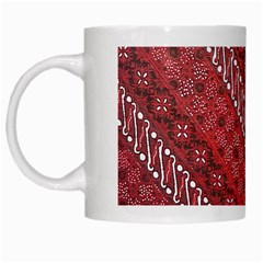 Red Batik Background Vector White Mugs by BangZart