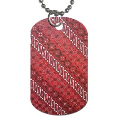 Red Batik Background Vector Dog Tag (two Sides)
