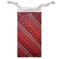 Red Batik Background Vector Jewelry Bag