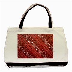 Red Batik Background Vector Basic Tote Bag by BangZart