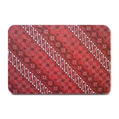 Red Batik Background Vector Plate Mats by BangZart