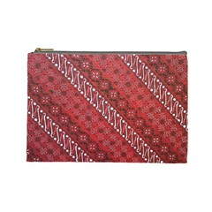 Red Batik Background Vector Cosmetic Bag (large)  by BangZart