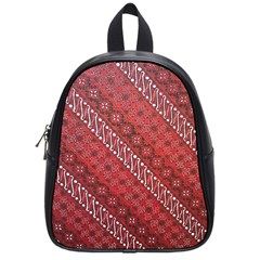 Red Batik Background Vector School Bags (small)  by BangZart