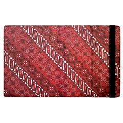 Red Batik Background Vector Apple Ipad 2 Flip Case