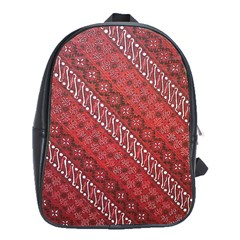 Red Batik Background Vector School Bags (xl)  by BangZart