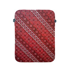 Red Batik Background Vector Apple Ipad 2/3/4 Protective Soft Cases by BangZart