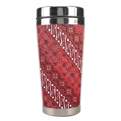 Red Batik Background Vector Stainless Steel Travel Tumblers by BangZart