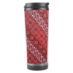 Red Batik Background Vector Travel Tumbler by BangZart