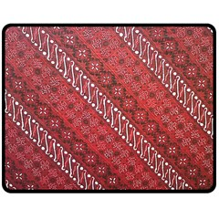 Red Batik Background Vector Double Sided Fleece Blanket (medium)  by BangZart