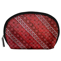 Red Batik Background Vector Accessory Pouches (large)