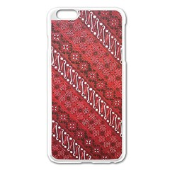 Red Batik Background Vector Apple Iphone 6 Plus/6s Plus Enamel White Case by BangZart